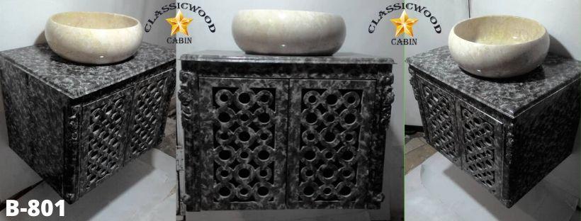 کابینت روشویی طرح سنگ کد B-801